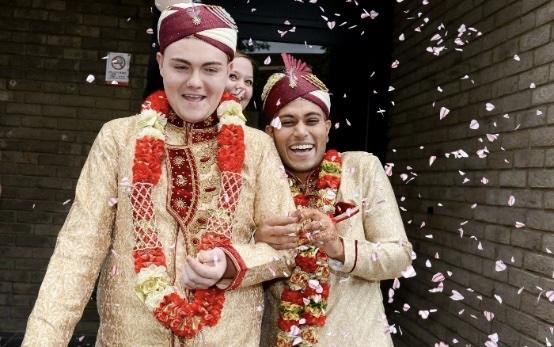 Image of Sean Rogan and Jahed Choudhury at their wedding